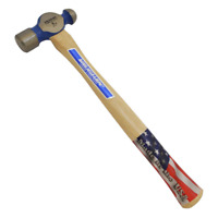Vaughan Ball Peen Hammer Metal Head Striking Tool Bending Hickory Handle 8 oz