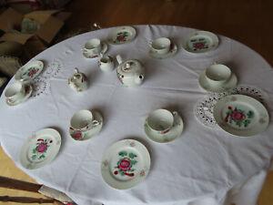 Teeservice Ostfriesische Rose, A. Warnecke,6 Personen