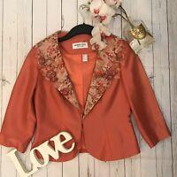 Stunning Maria Coca Size UK 6 Fits 8 10 Salmon pink embroidered embellish silk