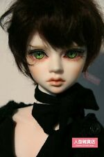 BJD Doll Hair Wig Mohair 8-9 inch 20-22cm black brown 1/3 SD DZ DOD AOD MK LUTS