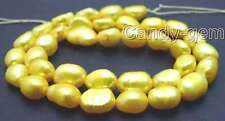 """SALE 7-9mm Natural Yellow BAROQUE Freshwater Pearl Loose Bead strand 14""""-los590"""
