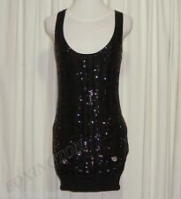 "SASS&BIDE BLACK SEQUINNED BODY CON SILK DRESS AUS 10,US 4 ""IN HER ELEMENT"""
