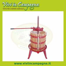 Torchio movimento razionale manuale gabbia in legno diametro 40 cm, per uva vino