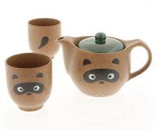 japanese Brown Raccoon Dog たぬき狸 Ceramic Tea Set/ New in Box/Made in Japan