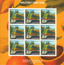 Tuvalu 2013 Gomma integra, non linguellato mondo più FAMOSI TRENI 9v M/S Orange Blossom Special FRANCOBOLLI