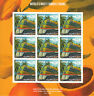 Tuvalu 2013 MNH World's Most Famous Trains 9v M/S Orange Blossom Special Stamps