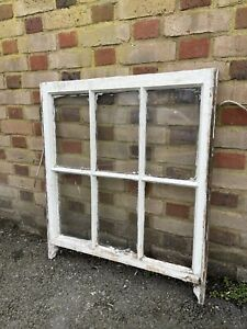 Reclaimed Old Georgian 6 Panel Wooden Window
