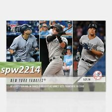 2018 Topps Now Sanchez, Austin, Judge #237 - 4 HRs in 3 Consecutive Games
