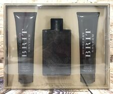 Burberry Brit Men's Eau De Toilette Body Wash After Shave Father's Day Gift Set