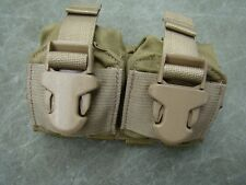 New USMC MOLLE II Eagle Industries Double Frag Grenade Pouch V.2, Coyote Brown