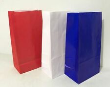 Plain Colour Paper Party Loot Bags - Many More Colours Available Blue