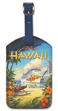 Leatherette Travel LUGGAGE TAG Baggage Label PRIDE OF HAWAII Cruise Ship WAIKIKI