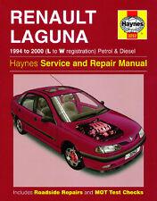 3252 Haynes Renault Laguna Petrol & Diesel (1994 - 2000) L to W Workshop Manual