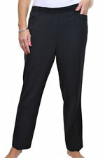 Polyester Loose Fit Plus Size Tailored Trousers for Women