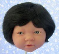 """BOB"" Black Doll Wig Full Cap Size 13 NOS, Boy or Girl, Baby Toddler, Etc"