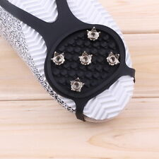 Ice Snow Ghat Non-Slip Spikes Shoes Boots Grippers Crampon Walk Cleats New H8