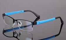Men Women Metal Half rimless Glasses Optical Eyeglasses Frame Spectacles Eyewear