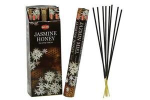 HEM Jasmine Honey Hexa 6 Pack 120 Incense Sticks