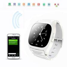 M26 Smartwatch Bluetooth Armbanduhr für Android Iphone Samsung Smartphones Weiß