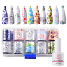 Makartt Nail Art Foil Glue Gel with Starry Sky Star Foil Stickers Set Nail Tips