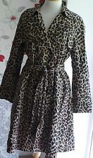 HOBBS London Animal Leopard print trench coat with belt,UK 14,100% Authentic,VGC