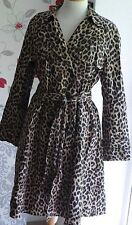 HOBBS London Animal Leopard print trench coat with belt,UK 14,100% Authentic,VGC