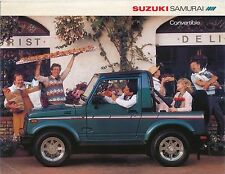 Suzuki SJ 413 Samurai Convertible 1986-87 original USA Sales Brochure