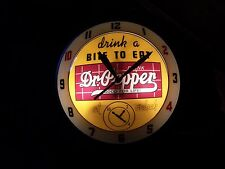 """Dr. Pepper Double Glass """"Bubble"""" Advertising Clock"""