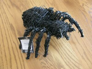Pottery Barn Halloween Black Spider with LED Lights-Lit Object - New