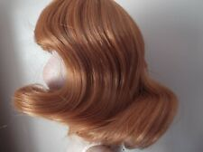 12 inch Dolls Wig in RED STRAIGHT SHOULDER LENGTH WITH A FRINGE. DARCY 01085