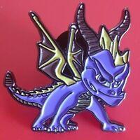 Spyro Pin Purple Dragon Gaming Enamel Retro Metal Brooch Badge Lapel 90s Kids