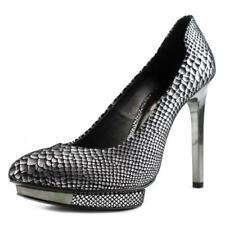 scarpe con chiusura sul tallone da donna argento , Numero 41