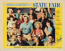 STATE FAIR - 1962 - LOBBY CARD - AUTOGRAPHED BY PAT BOONE & ALICE FAYE - RARE