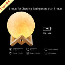 3D Magical Moon Night Light Table Lamp USB Charge Touch Control Home Decor Gift