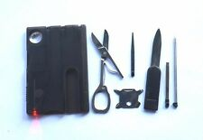 Swiss Style Knive Card Set 13 in 1 Multi Tool Wallet Pocket Outdoor Srvival Tool