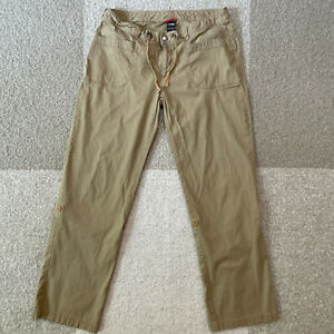 The North Face Noble Stretch Pants Roll Up Womens Size 12 Tan Outdoor Hiking