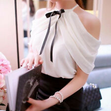 Elegant Ladies Tank Tops Flouncing Bowknot Casual Solid Blouse Shirt Cami Vest
