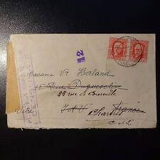 ESPAGNE LETTRE CENSURE MILITAIRE CENSOR COVER CAD BARCELONE 1938 POUR CHARTRES