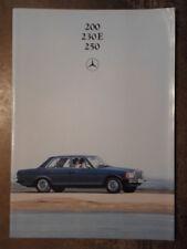 MERCEDES BENZ 200 230E 250 SALOONS orig 1980 UK Mkt Prestige Brochure - W123