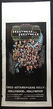 LOCANDINA CINEMA - HOLLYWOOD... HOLLYWOOD - F. ASTAIRE - 1976 - MUSICAL