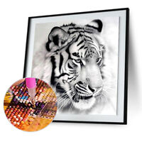 5D DIY Round Drill Diamond Painting Tiger Cross Stitch Embroidery Craft Kit