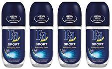 4x Fa Sport Energizing Fresh Anti-perspirant Deodorant Roll on for Men
