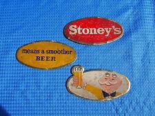 Vintage Stoney's Beer Foil Over Cardboard Signs (3) House of Jones Smithton,Pa