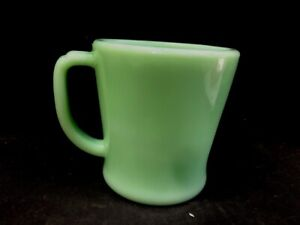 Anchor Hocking Fire King Jadite / Jadeite / Jade-ite D-handle Coffee Mug