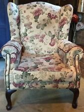 Wood & Fabric French Country Chairs