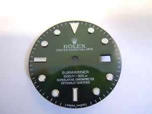 Green Custom Dial for Rolex Submariner Quickset Cal 3035,3135