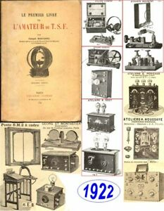 1922 Le premier livre de l'amateur de TSF par Joseph ROUSSEL