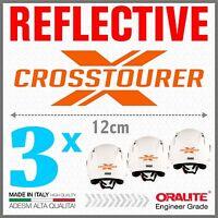 3x Rifrangenti ADESIVI Arancio compatibile con VRF 1200 X HONDA CROSSTOURER moto