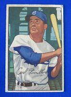 1952 BOWMAN CARL FURILLO #24 BASEBALL CARD ~ VG (Rough To Edge)