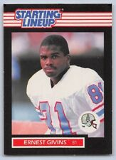 1989 Ernest Givins - Kenner Starting Lineup Card - Houston Oilers